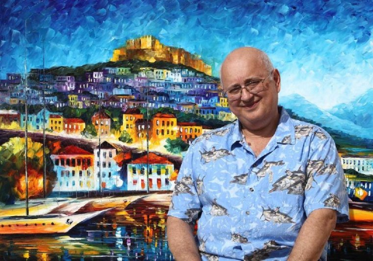 leonid_afremov_with_a_painting_by_leonidafremov-d2xf5qd