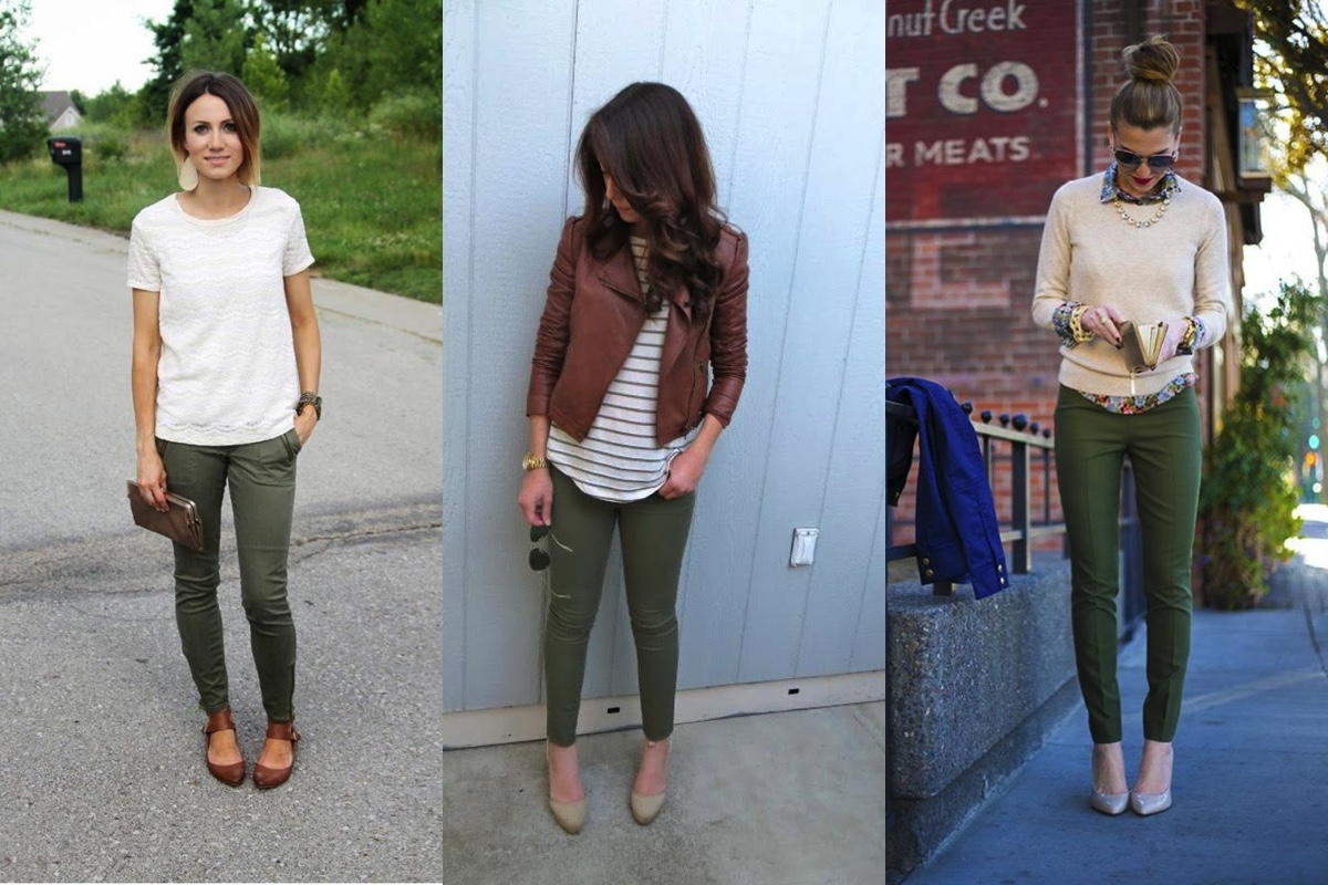 what goes with army green pants - Pi Pants