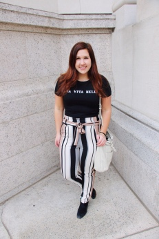 Bow Tie Stripe Pants